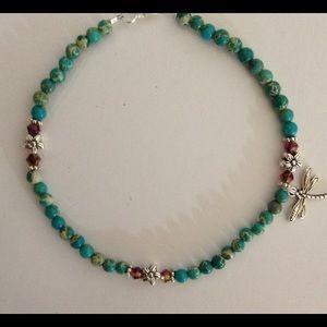 Jewelry - Gemstone Dragonfly Charm Anklet 🌿
