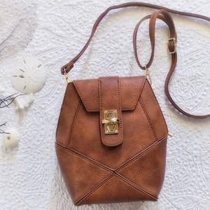 Pink Haley Handbags - Frida Crossbody in Medium Brown