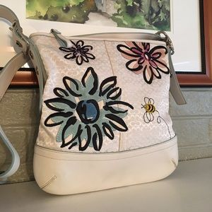 Coach Handbags - SALE!! Coach Floral Duffle Crossbody Bag-Firm!