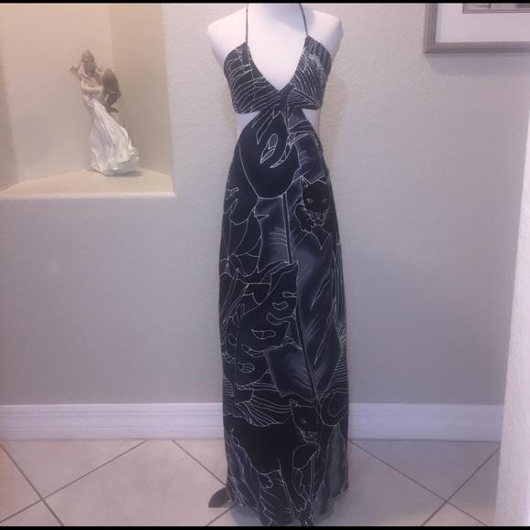 90a720e1cfd NWT Indah Blaze Black Panther Maxi Dress