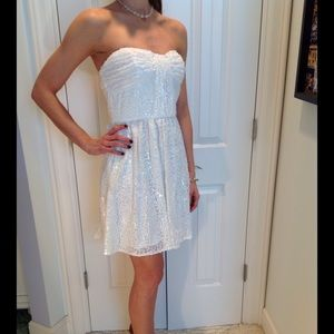 Jill Stuart Dresses & Skirts - 😎Brand New Jill Stuart White Sequinned Dress 2or6