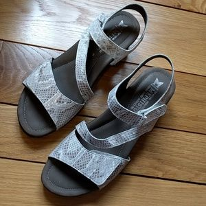 Mephisto Shoes - Almost new Mephisto leather snakeskin sandals