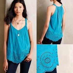 Anthropologie Tops - ANTHROPOLOGIE Knotted Lace Tank Top Meadow Rue new