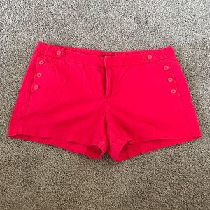 Women's Merona Button Front Red Shorts Size 16