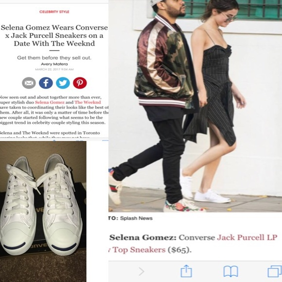a02367371511 Converse Shoes - Seen on Selena Gomez Converse X Jack Purcell 4.5
