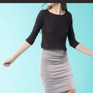 April Spirit Dresses & Skirts - Heather grey mini skirt