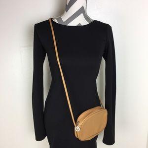 LONGCHAMP Pebble Leather Crossbody Bag