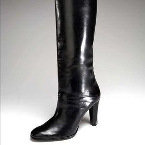 Diane Von Furstenberg black heeled Sina boots