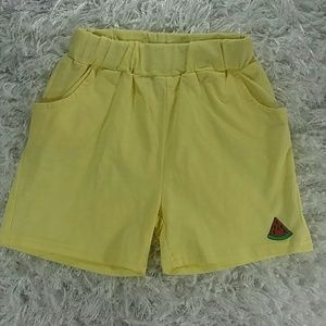 Other - Pale Yellow watermelon Shorts. Kids