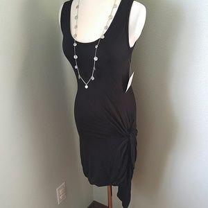 Stella luce Dresses & Skirts - Black jersey knit high low side knot dress