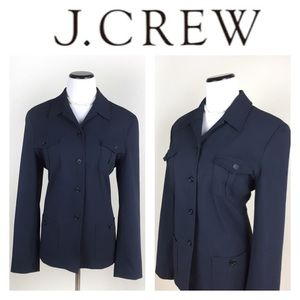 J. Crew Jackets & Blazers - 🔥SALE🔥J. CREW NAVY BUTTON JACKET SZ12