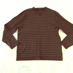 Banana Republic Merino VNeck Sweater Gray L