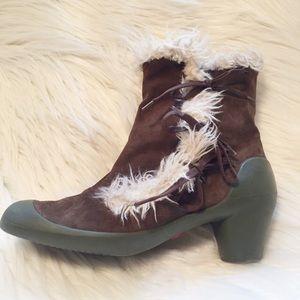 Camper Shoes - Camper suede faux fur tie booties ☔️? 40 10