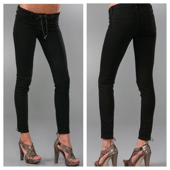 5c12bb7997d59 J Brand Denim - J Brand Duarte Suffragette Lace Up Jeans in Minx