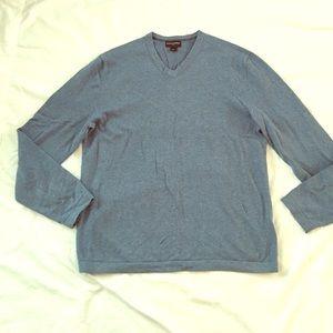 Banana Republic V Neck Sweater Blue Large