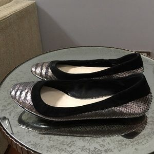 Christian dior snakeskin suede flats