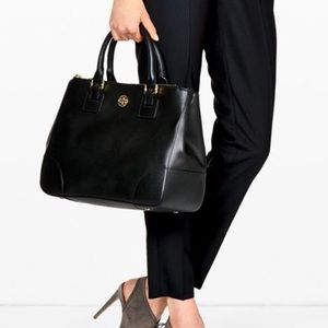 Tory burch double zip Robinson tote