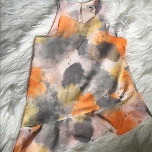 DKNYC Tops - DKNY Asymmetrical Water Color Blouse