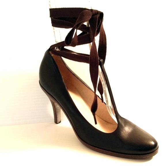 efe6017f2905bc Dries Van Noten Shoes - Dries Van Noten Ribbon Ankle Strap Mary Jane Heels