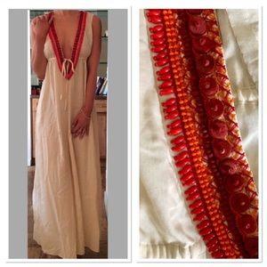 Shoshanna Dresses & Skirts - Shoshanna Beaded Plunging Maxi Dress