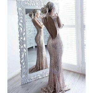 Lilac Shade Dresses & Skirts - Sequin Maxi Dress