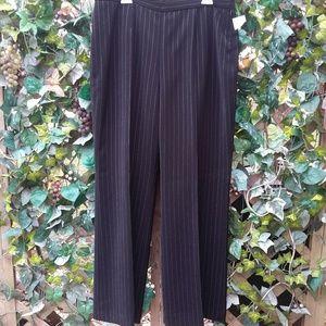 Le Suit  Pants - NWT Le Suit Black & White Pinstripe Lined SALE