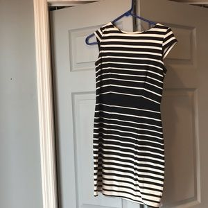 Loft 0P black and white dress
