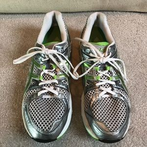 Asics Other - Men's Asics sneakers silver green 11