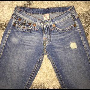 True religion JoeyBig T flare jeans 26