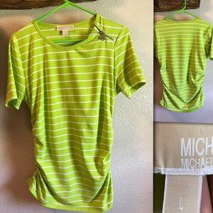 Michael Kors Lime Green Blouse. Size L