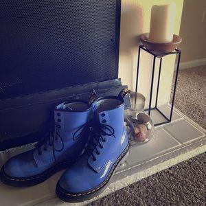 Blue Doc Martins
