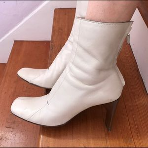 Costume National Shoes - Bone white leather Costume National booties