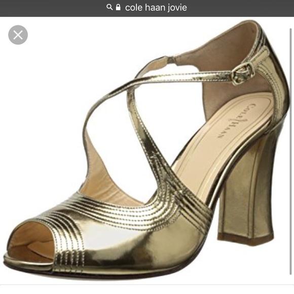 242caaa0f4df Cole Haan Gold Jovie Sandal