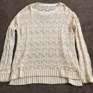 bohme Sweaters - Cream colored crocheted sweater