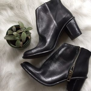 Miista Shoes - Miista Black & Silver Leather Ankle Boots