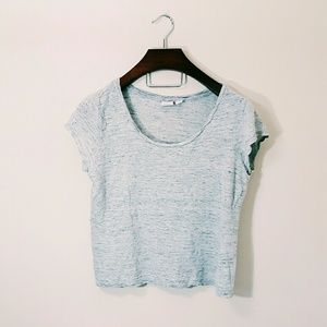 St. Tropez Tops - St. Tropez West 100% linen crop top