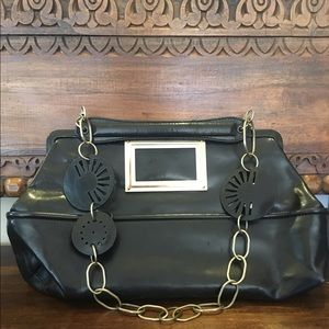 Marni Leather Convertable Strap Shoulder Bag