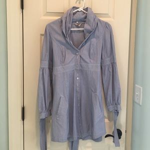 Ted Baker button down dress with tie around back.