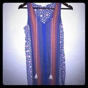 Soprano Dresses & Skirts - Colorful Printed Shift Dress with Tassels
