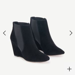 Ann Taylor Shoes - 🆕Ann Taylor Black Suede Wedge Booties Boots