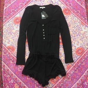 NEW ANM Black Knit Playsuit