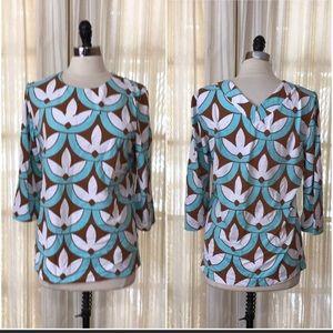 J. McLaughlin Tops - J. McLaughlin Geometric Jersey Knit Tunic Top