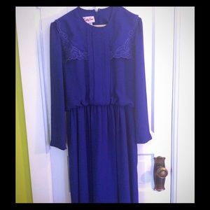 Beautiful vintage royal blue dress
