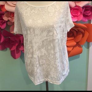 Gap Sheer Floral Shirt- Medium