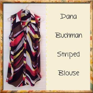 Dana Buchman Tops - Dana Buchman Sleeveless Striped Blouse