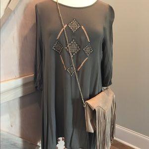Dresses & Skirts - ✨LAST 2✨ NWT Boho Free Spirit Flowy Olive Dress