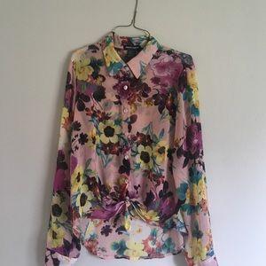 Tops - Chiffon Floral Blouse