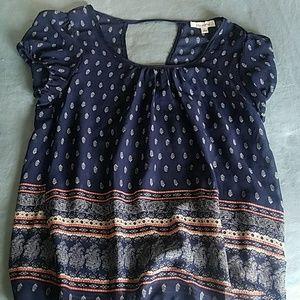 Navy blue dress top
