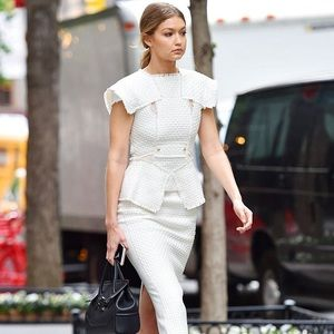 Gucci Ivory Pencil Skirt