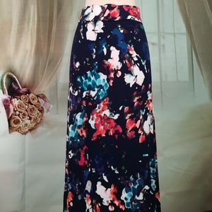 a.n.a Dresses & Skirts - a.n.a. Dark Water Color Maxi Skirt NWOT
